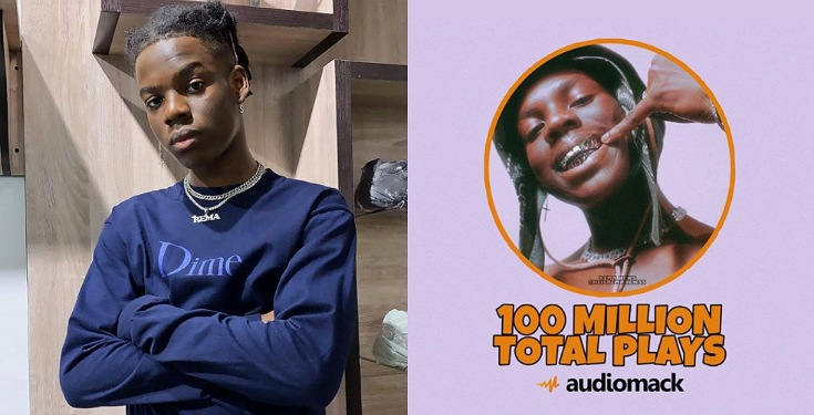 Rema Excited As He Hits 100 Million Streams On Audiomack