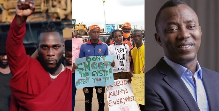 #RevolutionNow: Join The Protest - Sowore Challenges Burna Boy