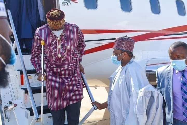 Rotimi Amaechi Spotted With Crutches At Airport