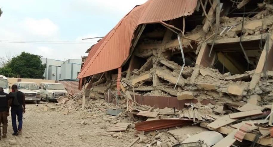 School Building Collapses In Lagos
