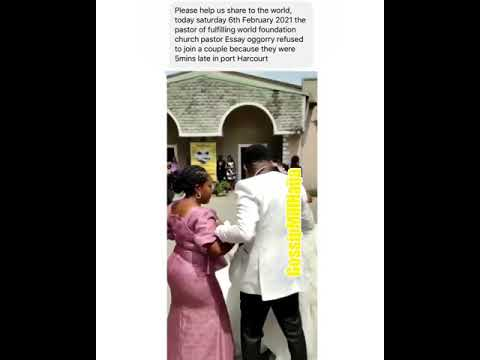 Shocking: Pastor Refuses To Join Couple Because Bride Was 5 Minutes Late To The Wedding