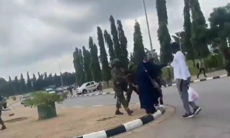 Soldiers Attack #EndSARS Protesters At National Assembly
