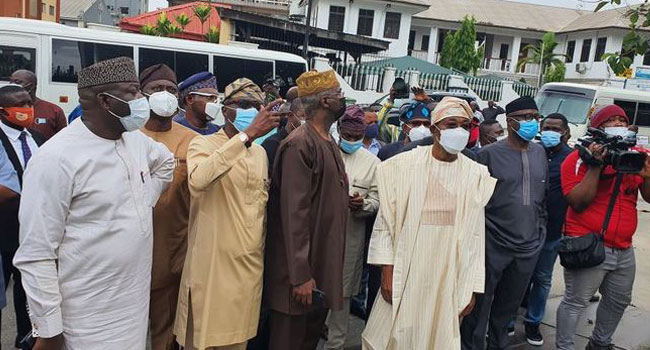 South West Governors and Ministers Visit Sanwo-Olu in Lagos State