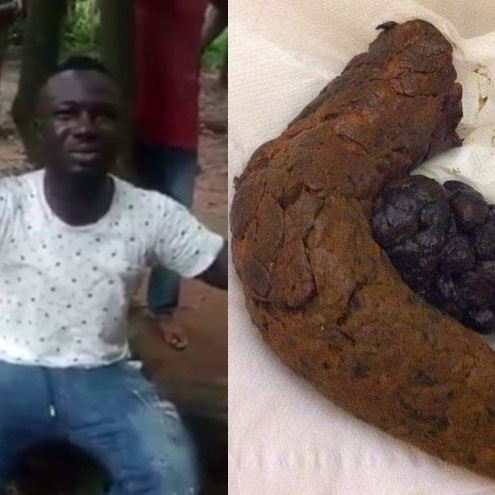 Suspected 'Yahoo Boy' Eating Feces With Bread