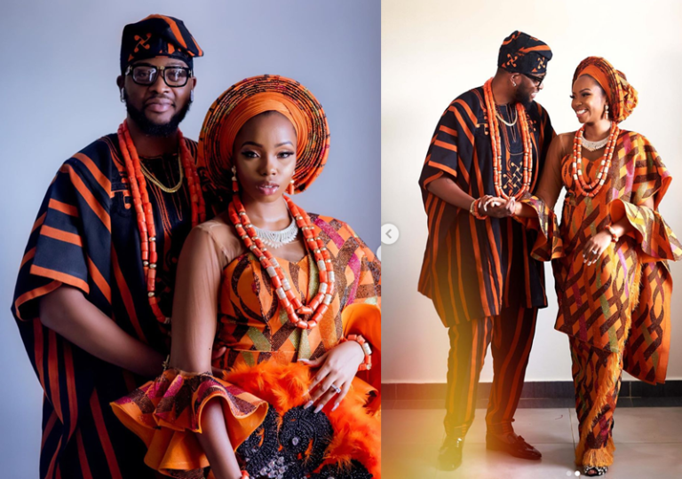 Teddy A And Bam Bam Celebrate 1st Traditional Wedding Anniversary