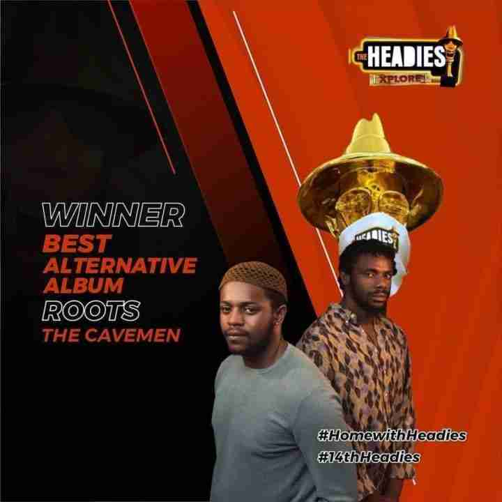 The Cavemen Wins Best Alternative Album Award at the #14thHeadies