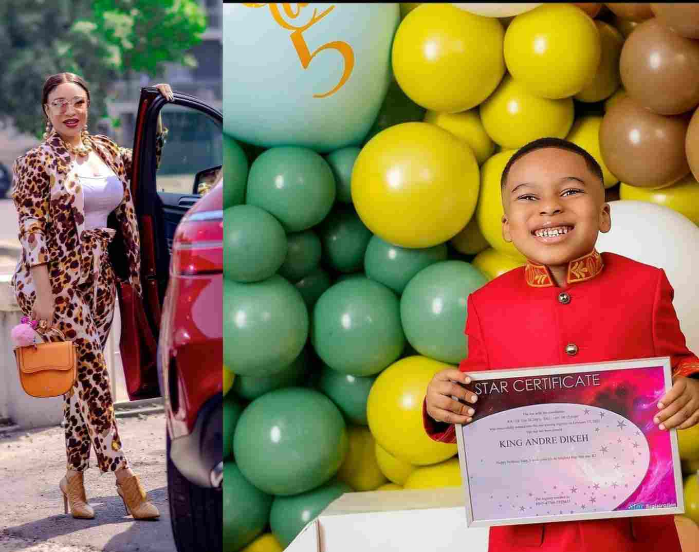 Tonto Dikeh Buy a Star For Her Son On His 5th Birthday