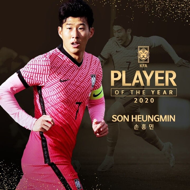Tottenham striker, Son wins KFA Player of the Year for 2020