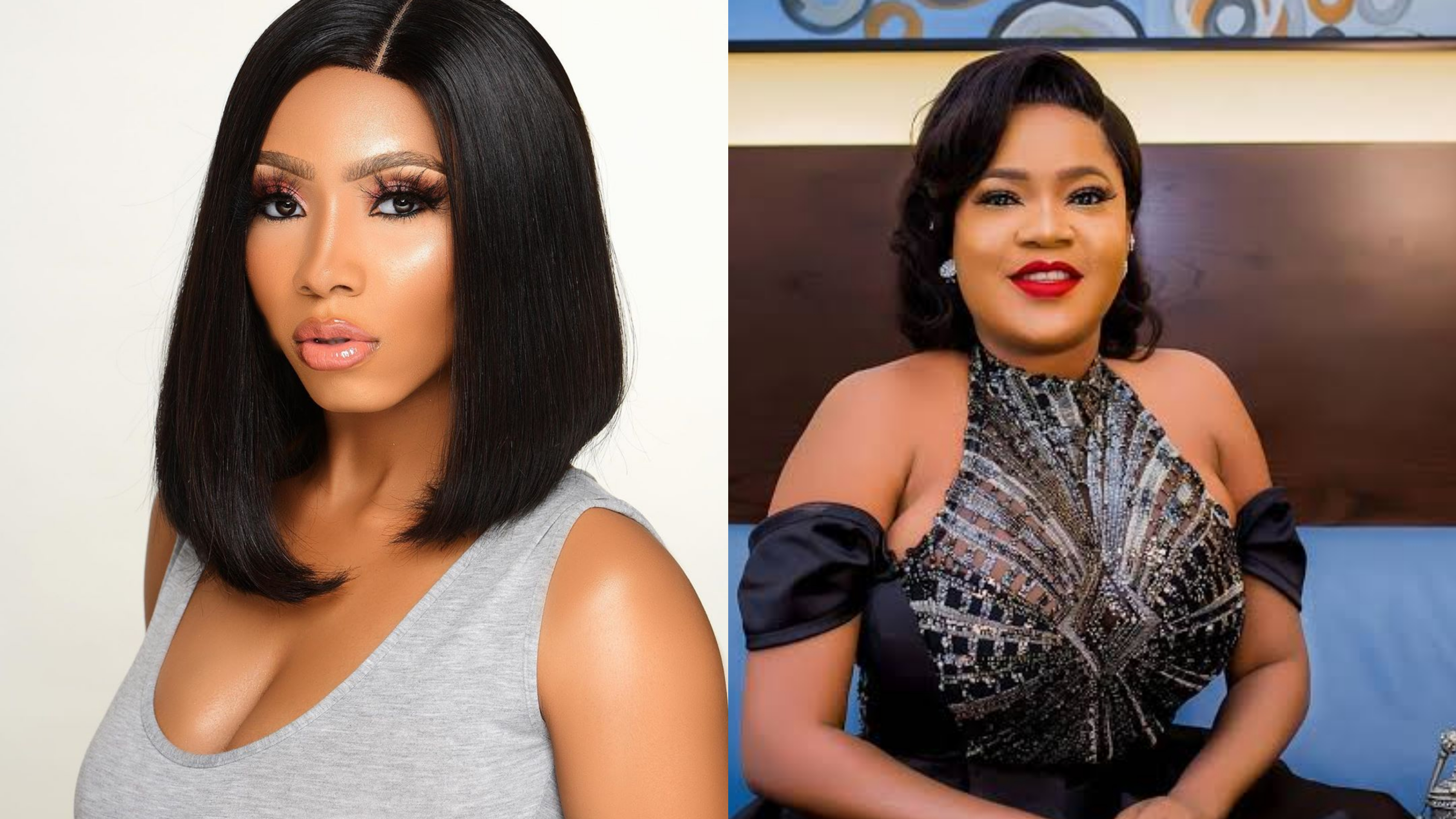 Toyin Abraham describes Mercy Eke as humble and respectful (See Photo)