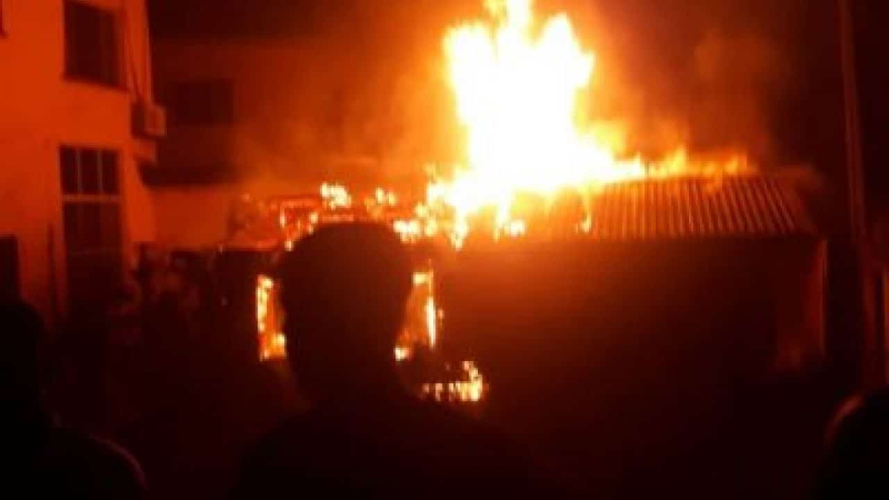 Traders lament as Fire destroys Furniture Shops in Minna