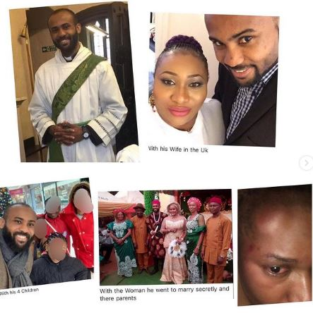 UK-based Pastor Abandons Wife And Kids, Secretly Marries Another Lady In Nigeria (Photos)