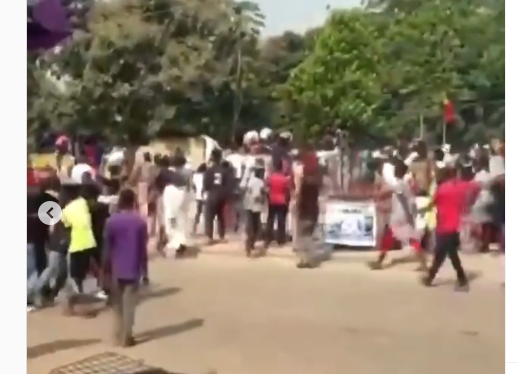 Watch Moment Abuja NYSC Camp Was Looted (Video)