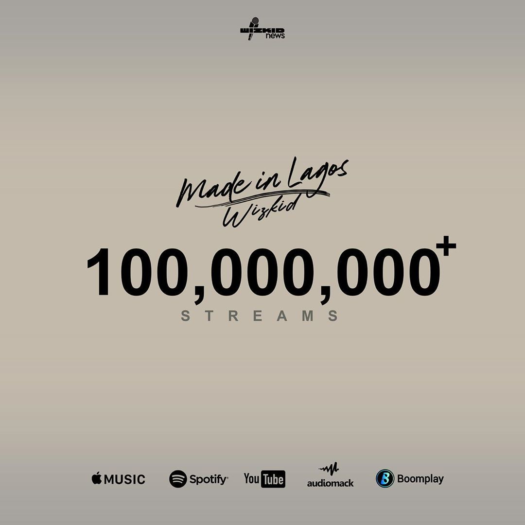 Wizkid's Made In Lagos Album Hits 100 Million Streams In 9 Days