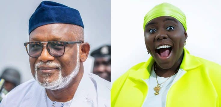 """You are Doing Well"" - Governor Rotimi Akeredolu tells Teni as She reps Ondo State"