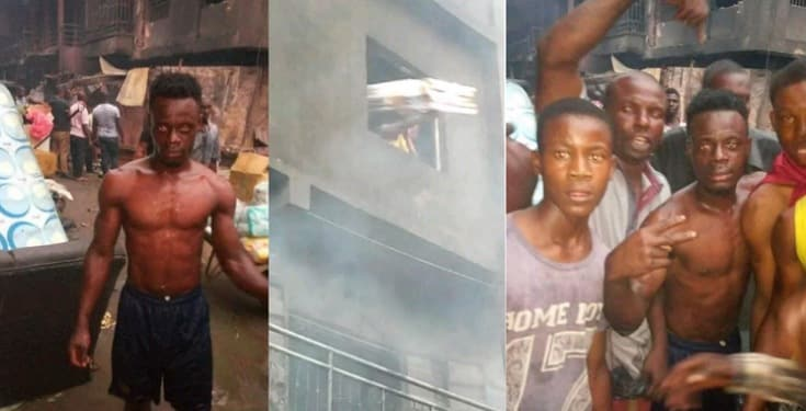 Young boy hailed for risking his life to retrieve goods during Onitsha Fire