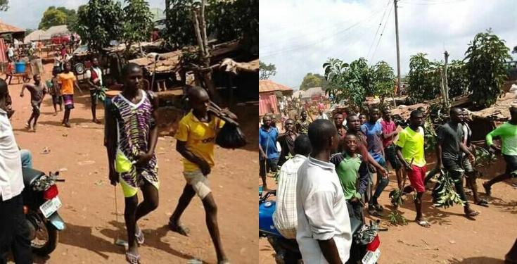 Youths Protest the incessant Disappearance of their Manhood in Benue (See Photos)
